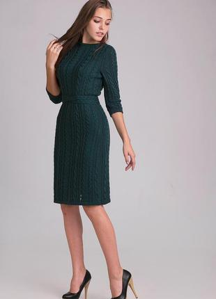 Стильное , очень тёплое, шерстяное  платье , 42-44 европ. размер