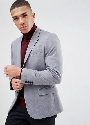 Стильный классический мужской пиджак, жакет приталенный на пуговицах