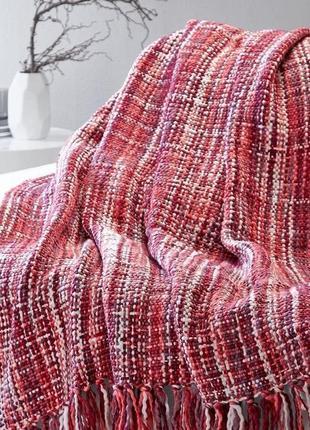 Классный плед/покрывало/одеяло крупной вязки. из германии 130*175 см