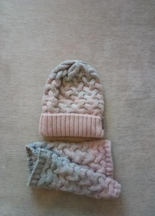 Зимний вязаный комплект  autumn outerwear