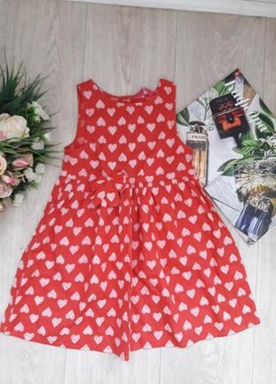 Нежное платье в сердечки  5-6 лет young dimension
