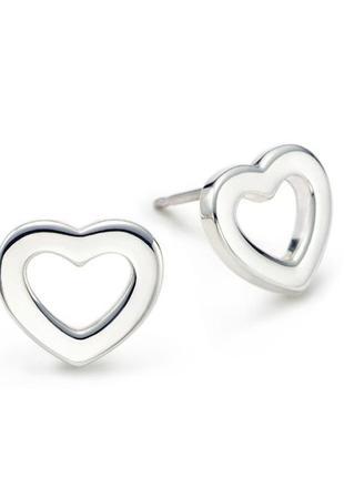 Серьги в серебре 925 сердце, новые! арт.868