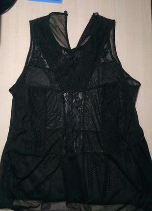 Прозрачная сексуальная блуза, блузка с кружевом