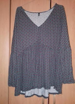 Трикотажная блузка большого размера