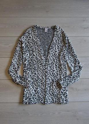 Леопардовый кардиган от zebra р. m/l