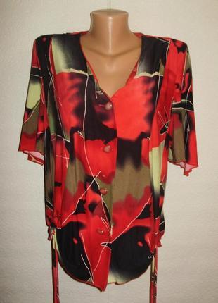 Женский яркий костюм жакет+юбка с драпировкой микромасло 56 размера белоруссия