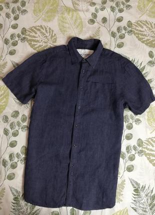 Брендовая 100% лен  рубашка rocha john rocha