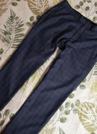 Фирменные брюки в клетку fellini