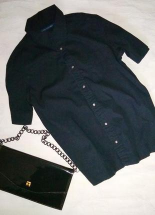 Рубашка с коротким рукавом и интересным воротничком