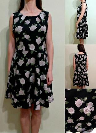 Красивое легкое платье с подкладкой 12-14