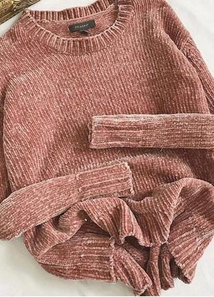 Стильний бархатний светер