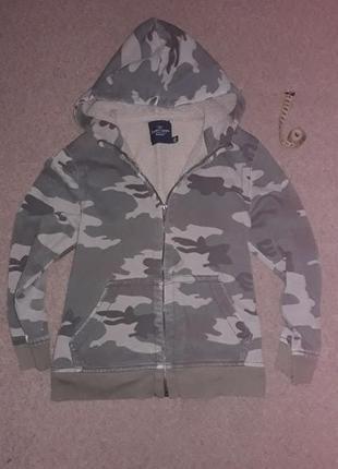 Теплая кофта-куртка хаки