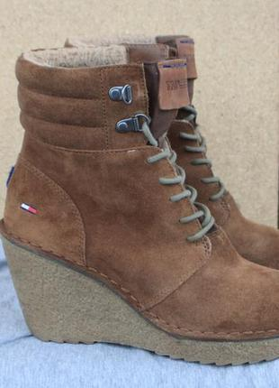 Зимние ботинки tommy hilfiger замша 38р ботильоны