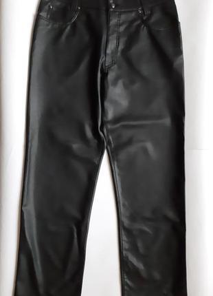 Классические брюки из кожзама versace (пот-45см)