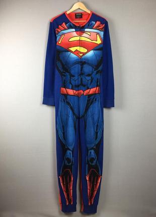 Флисовый кегуруми супермена от burton оригинальный костюм для сна superman