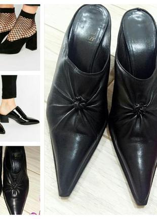 Туфли-мюли их мягкой кожи nando muzi 40 размер
