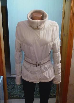 Куртка,курточка,деми,44-46р.белая,от мирового бренда zara,brasil.