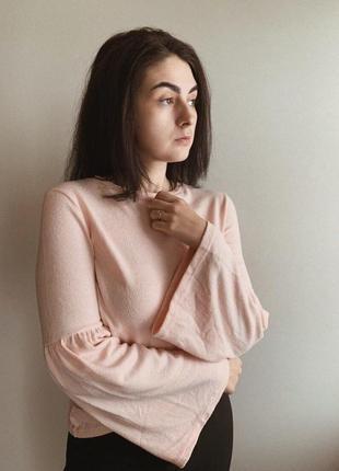 Нежно-розовый джемпер от zara