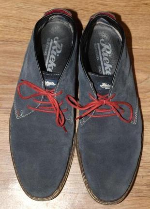 Ботинки из натуральной замши rieker 43 разм