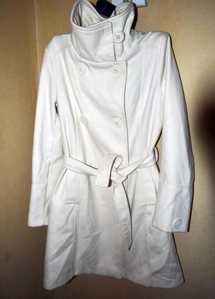 Белое пальто mango (s/m)