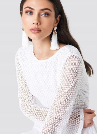 Na-kd романтична біла бавовняна сукня