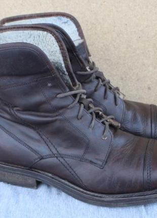 Зимние ботинки venturini кожа италия  43р