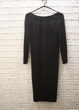 Теплое платье миди шерстяное