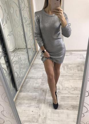 Платье с напылением
