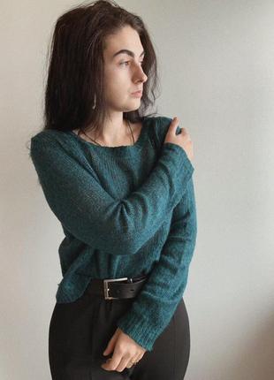 Изумрудный свитер от h&m
