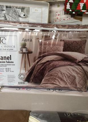 Фланелевое постельное белье first choice flanel aura(евро)2