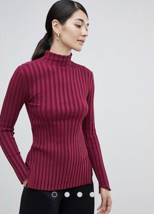 Чёрный свитер в рубчик4 фото