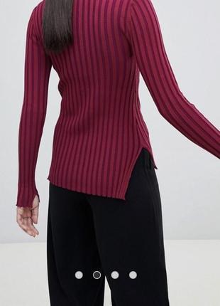 Чёрный свитер в рубчик5 фото