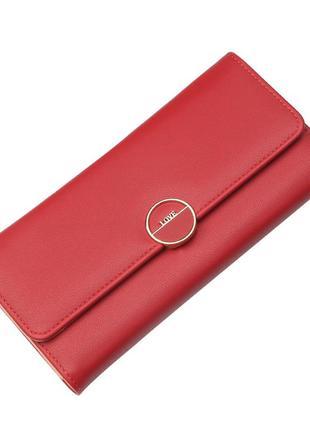 Женский кошелек, клатч baellerry love эко-кожа красный