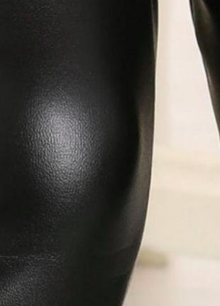 Детские кожаные леггинсы на флисе, рост. от 120 до 150 см2