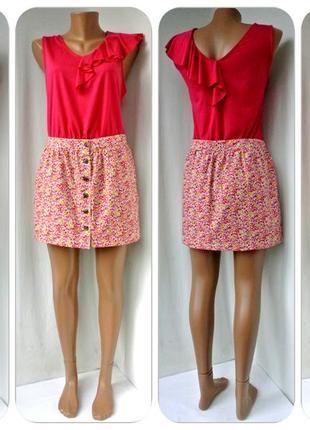 Новая брендовая юбка мини на пуговицах jack wills. размер uk12(м).