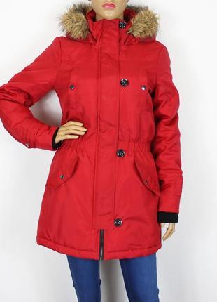 Зимняя красная парка vero moda