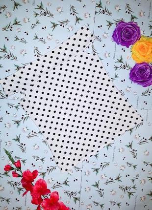 Фирменная блуза в горошек с открытыми плечами george, размер 44-46