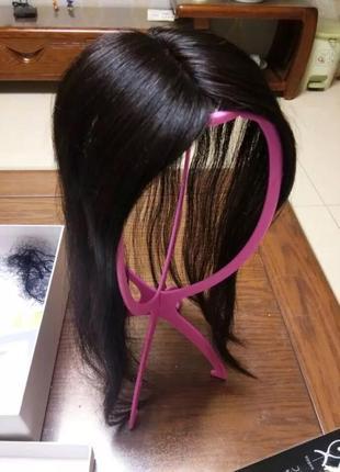 Парик накладка на проблр из натуральных волос волосы для наращивания
