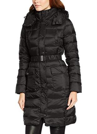 Новый длинный (непромокаемый) пуховик benetton it40(xs), it42(s) парка куртка из италии