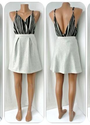 Стильная юбка atmosphere серый меланж. размер uk8/36, s.