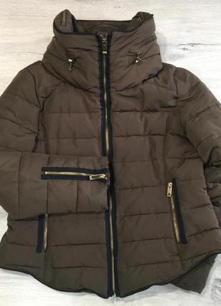 Горчичная курточка zara