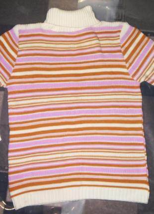 Женская,зимняя,теплая,вязаная,длинная кофта,свитер в полоску oversize, свободный крой