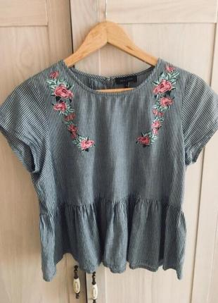 Топ, блуза new look, 100 % котон