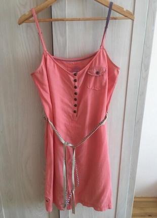Новое платье из натурального льна с вискозой esprit, edc, оригинал