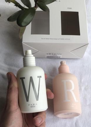 Духи zara в наборе zara white zara rose парфюм/туалетная вода/туалетна вода