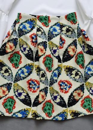 🌾 юбка тюльпан в принт с подкладкой atm