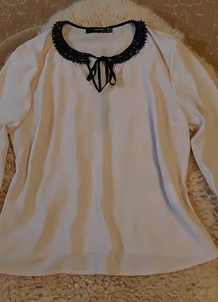 Женская бежевая нюдовая блуза бренд hallhuber