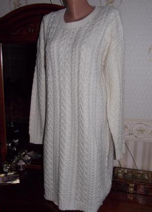 """Р.xl """"va vite"""" австралия, оверсайз на m-l,зимнее вязаное платье, шерстяное в идеале"""