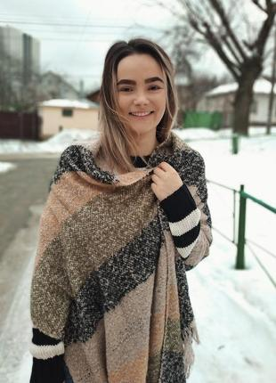 Теплий шерстяний шарф