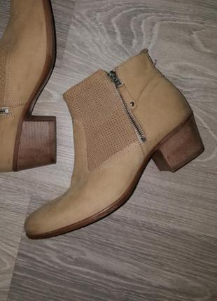 Новые pier one ботинки ботильоны кожа замша 42 беж деми женские